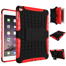 For Apple IPad mini 4, Armor Shockproof Protective Rugged Rubber Silicone PC Tablet Case
