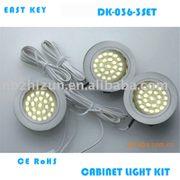 recessed LED cabinet down light set for kitchen and bathroom furniture