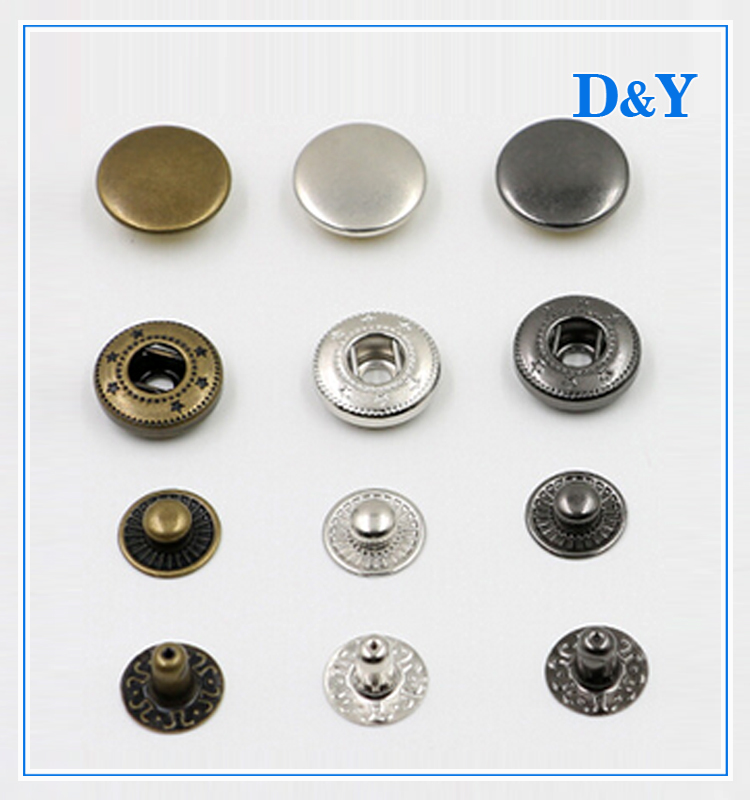 2017 Hot sale classic design metal snap button / ring snap button for garment