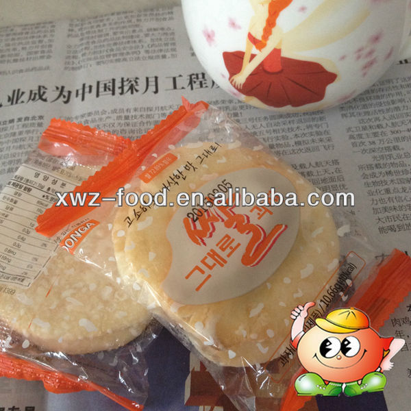 Sweety rice cookie export to Korea