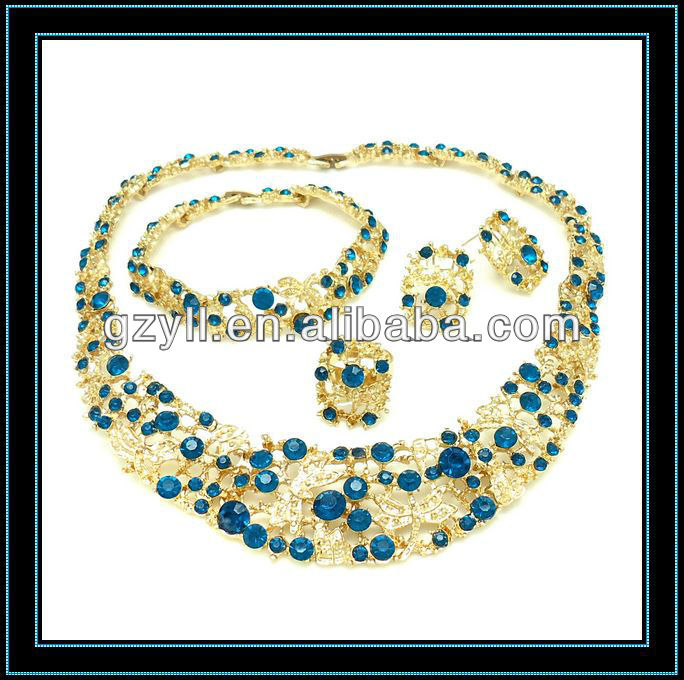 Most Fashion heavy jewelry set18k gold plated African wedding jewelry set