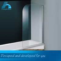 Oem Design Polished Hinged Bath Screen Accessories Bathroom
