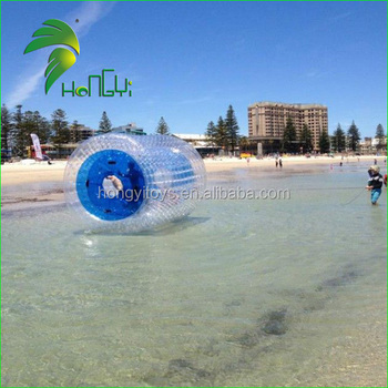 Durable PVC Inflatable Walk On Water Roller Ball , Inflatable Water Walking Ball For Adults