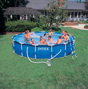 Latest design family above ground pool durable Intex swimming pool
