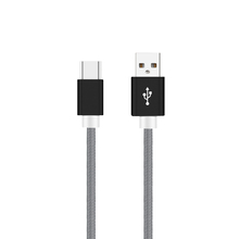 Metal Nylon Braided 1M Type C USB Cable 2A