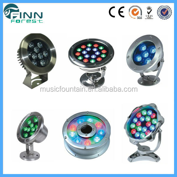 Finn Forest supply spotlight stainless steel Underwater Led and RGB projector Light solar powered underwater lights wireless
