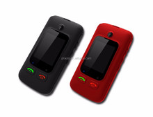 2.4 inch lcd screen mobile phone flip 3G WCDMA GSM 850/900/2100 torch light cell senior phone