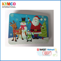 2016 Walmart Funny decorative christmas santa and reindeer embossed metal gift card packaging tin box