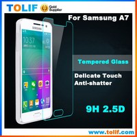 Hot Selling mobile phone 9H tempered glass screen protector for Samsung Galaxy A3 A5 A7 A8 back and front cover