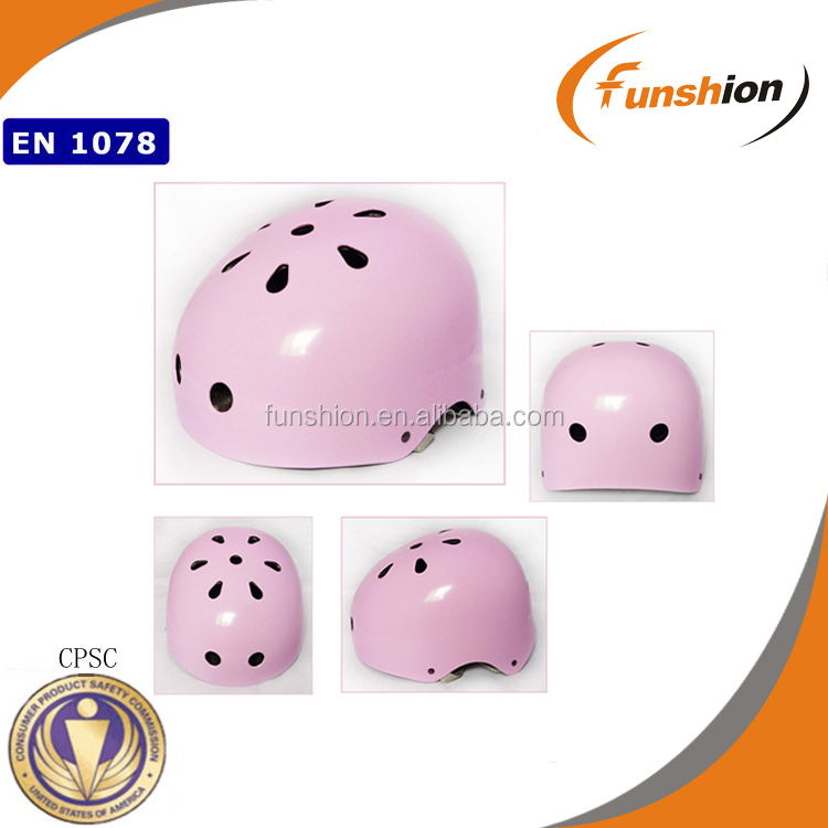 kids kick snow scooter light pink helmet with 10 vents