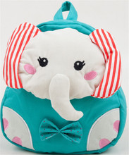 Cartoon plush Elephant Blue school bags backpack kindergarten book Bags
