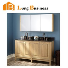LB-LX2131 Antique Style and Mirrored Cabinets Type customized Solid Wood Bathroom vanity