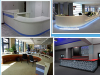 Artificial acrylic solid surface stone commercial bar counters reception desk