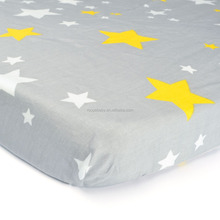 Amazon hot-selling baby bed sheet &100% Jersey/Woven baby fitted crib sheet