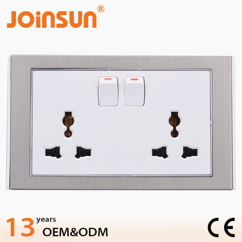 Hot design double socket with switch usb wall socket europe