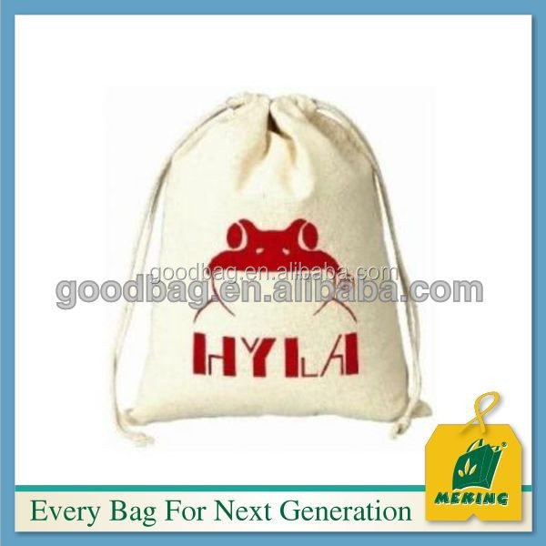 MJ-KN04 promotional bag 2015 factory direct wholesale cotton fabric drawstring bag