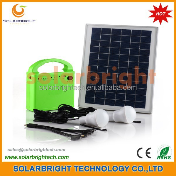 Solarbright portable mini small house home emergency solar energy power lighting kit off grid solar system