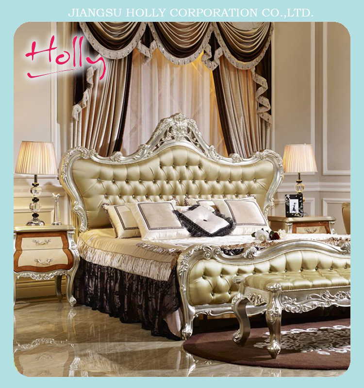 BENCH Classic solid wood furniture bedroom set luxury king bed night table wardrobe no MOQ