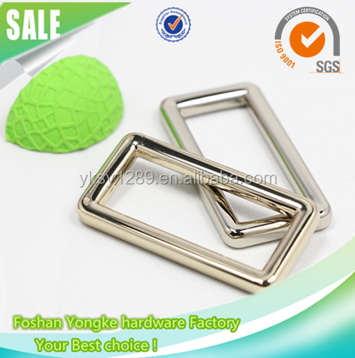 Fashion metal fittings for handbag square ring leather bag buckle