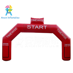 Cheap price size and colors custom durable PVC inflatable start/finish line arch for sale