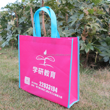 Promotional pink nonwoven tote bag recyclable non woven bag