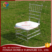 Factory direct sell resin transparent chiavari chair