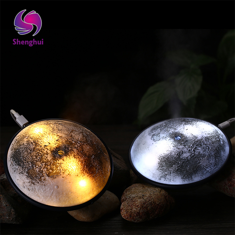 Monthly mist humidifier usb small night lamp mini simulation moon creative bedroom night light ultrasonic humidifier
