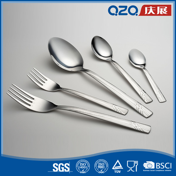 OEM sets salad spoon and fork set with extra thick ergonomics handle