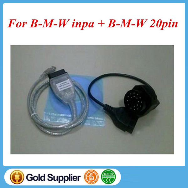 INPA Ediabas K+DCAN USB Interface for B*M*W D-CAN CAN OBD2 Cable For OBD2 diagnostic tool 20pin to 16pin adapter