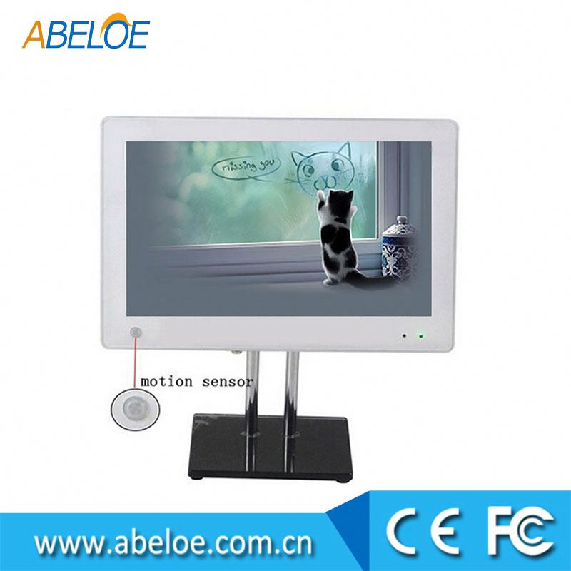 Network 15.6 inch LCD advertising player,digital signag with touch screen,motion sensor optional