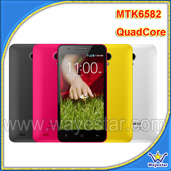 4.5 inch Non Brand Android Phone, Quad Core MTK Mobile with Dual SIM 6582 CPU