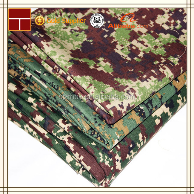 ripstop polyester cotton military camouflage fabric