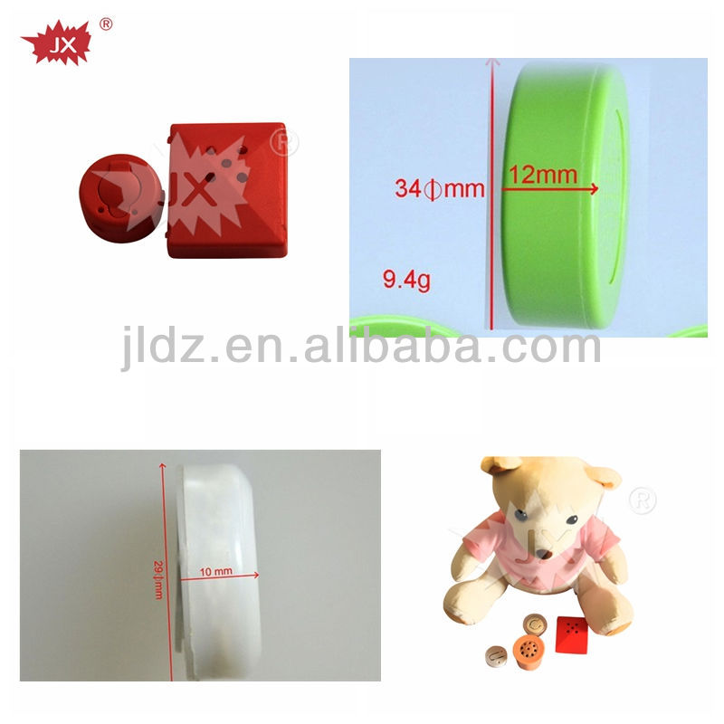 Plastic talking buzzer push button for toys dolls