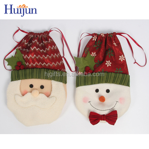 2017 New Design Christmas Bag Gift Candy Bag Kid Felt Drawstring Bag