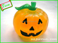plastic squishy pumpkin shape water filled ball