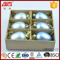 Factory Direct Sell Wholesale Hand Blown Blue Easter Glass Egg Crafts