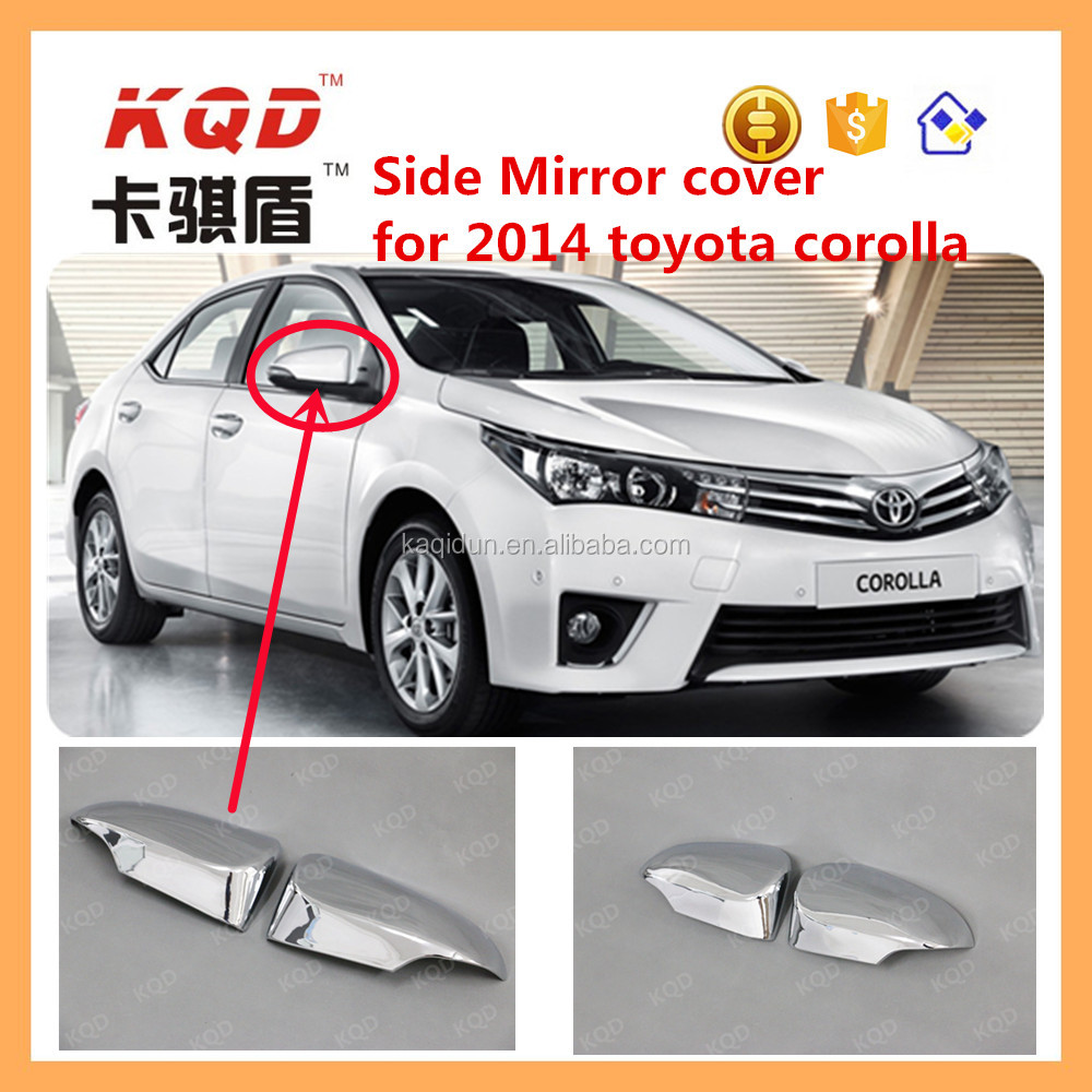 High fitment car chrome side mirror cover for toyota corolla