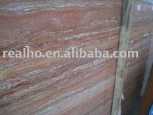 polished red travertine