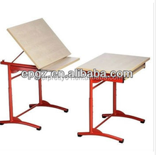 School furniture Steel frame wood top Drafting dwaring board for student