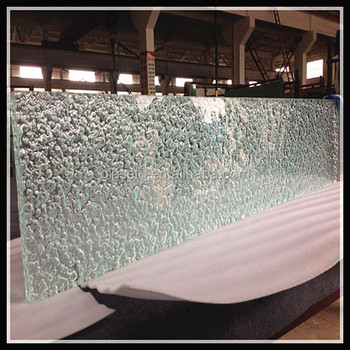 Textured casting glass counter top with LED