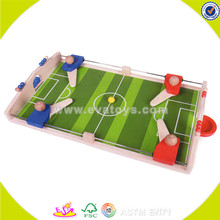 Wholesale Wooden Mini Football Game Table Toy Kids indoor Mini Football/Soccer Board/Table Game for promotional W01A087