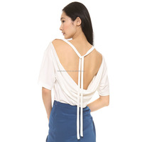 Sexy blouse back neck design slender neck hung back cotton women blouses