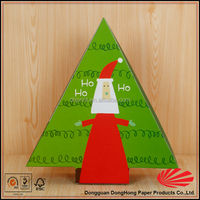 Triangle shape cardboard gift packaging christmas flavour box