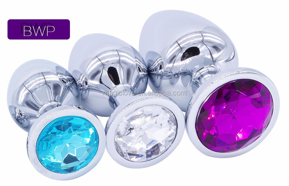 Small Middle Big Sizes Anal Plug Stainless Steel +Crystal Jewelry Anal Toys Butt Plugs Anal Dildo Adult Products for couple