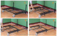 All-metal changeable sofa bed frame with wheels