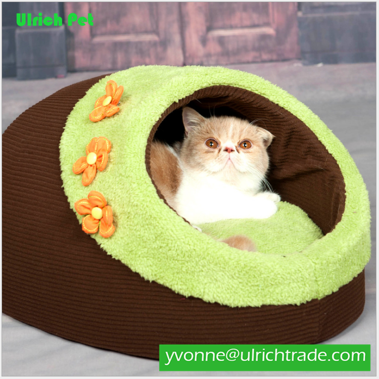 XJY107 china wholesale manufacture oxford cover flower cat bed