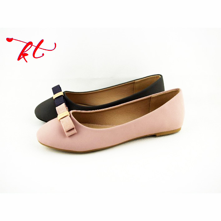 classical design fake leather upper women flat ballerinas shoes