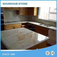 River Gold Granite Countertop for Kitchen and Bathroom
