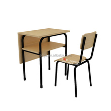 Hot Sale Metal Wood School Furniture, Adult Study Table Chair School Furniture Dubai