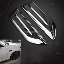Car Sticker Modification Side Shark Gill Car Accessory Decorated Air Vent Automobile Engine Cover Air Flow Vent Fender